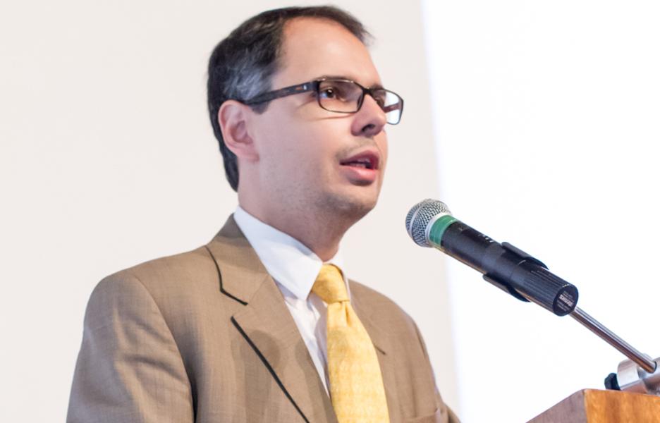 Artur Coimbra, diretor de banda larga do Ministério da Ciência, Tecnologia, Inovações e Comunicações (MCTIC), durante o Encontro Provedores Regionais Campinas, realizado pela Bit Social em 11 de julho de 2017.