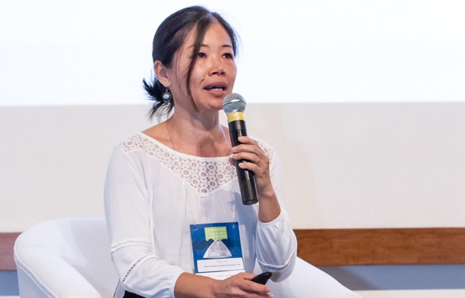 Cybelle Oda, da RNP, fala durante o Encontro Provedores Regionais Campinas, realizado pela Bit Social
