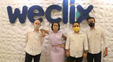 Giuliano Mendes, Katia Andrade, Fabrício Kameyama e Ricardo Campos, diretores da Weclix.