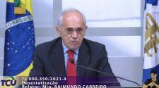 Ministro Raimundo Carreiro - Plenário Extraordinária 18/08/2021 - Crédito: Divulgação